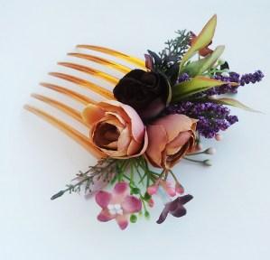 гребень с цветами в прическу