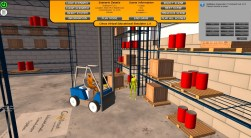Simulator hud scene selection