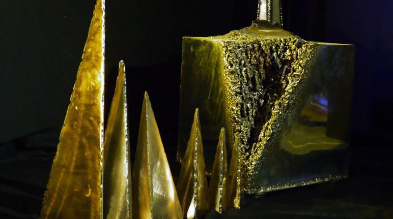 BERSABEA - acciaio inox/bronzo/ottone - cm. 100 x 100 x 40
