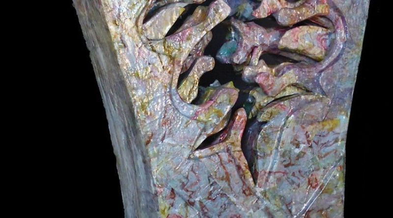 ISIDORA - scultura in tecnica mista - cm. 106 x 70 x 16