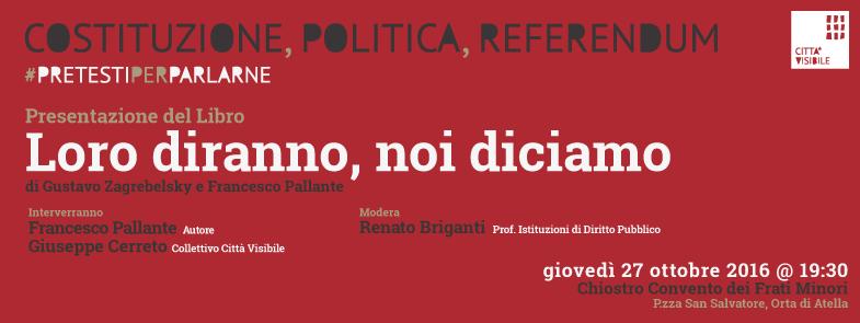 Pretesti per parlarne: incontro con Francesco Pallante