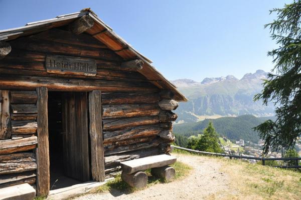 Heidi's Hutte, St Moritz