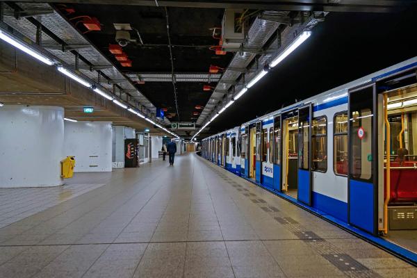 Metro station in Amsterdam