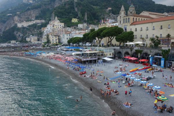Amalfi Town panoramic view