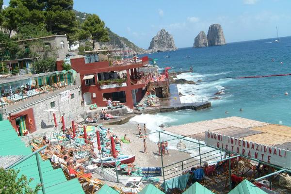 Capri Amalfi Coast beach