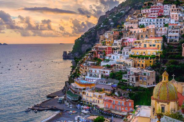 Positano panoramic view Amalfi Coast
