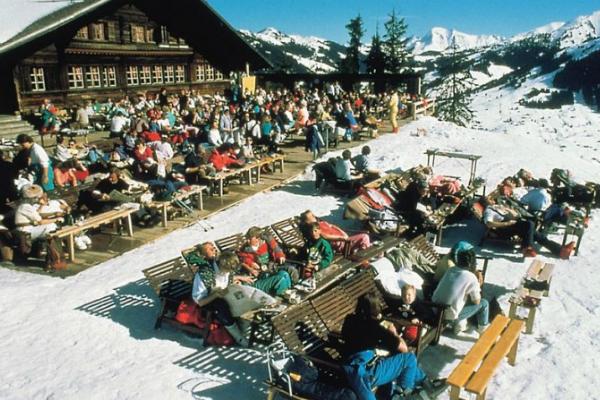 Apres-ski bar in Gstaad