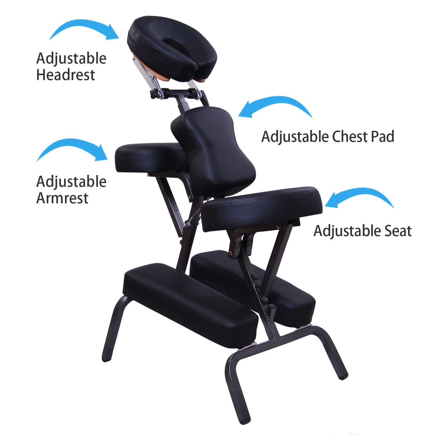 tattoo artist chair ergonomic thoracic support 44 portable pu leather pad travel massage spa salon the a101062 folding offers comfort as well portability every desires suitable for use in workshops