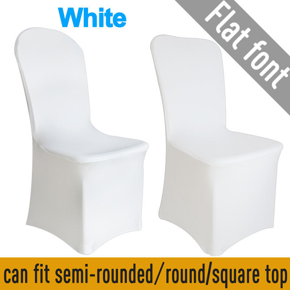stretch chair covers patio and ottoman 100pcs spandex white for wedding party banquet decoration