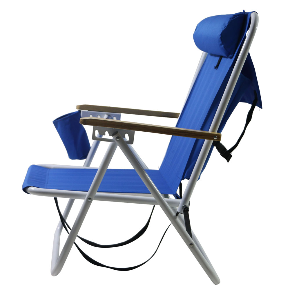 Will Chair Details About New Backpack Beach Chair Folding Portable Chair Blue Solid Construction Camping
