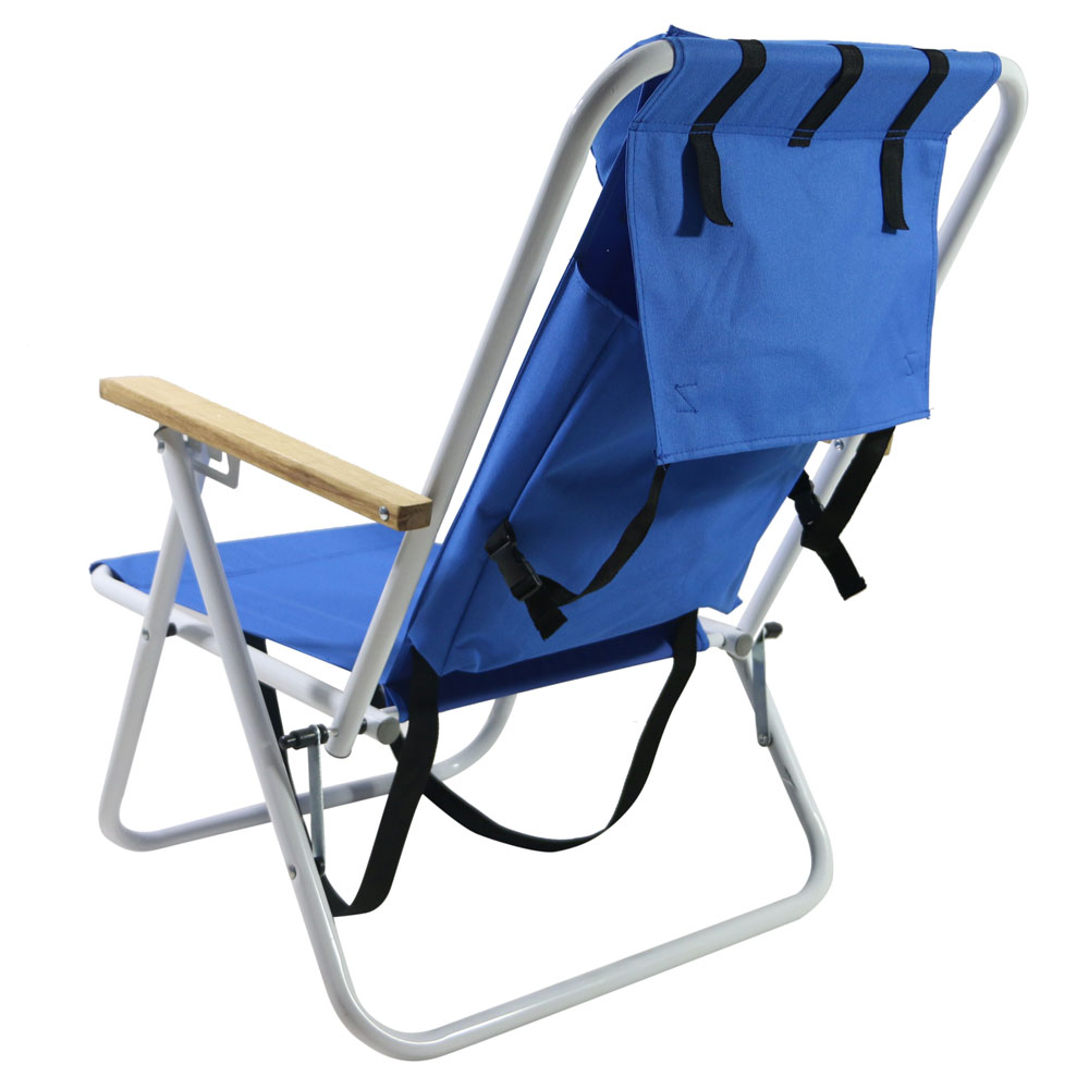 New Backpack Beach Chair Folding Portable Chair Blue Solid