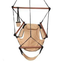 Hanging Chair Wood Feminine Executive Office Chairs Hammock Air Deluxe Sky Swing Outdoor