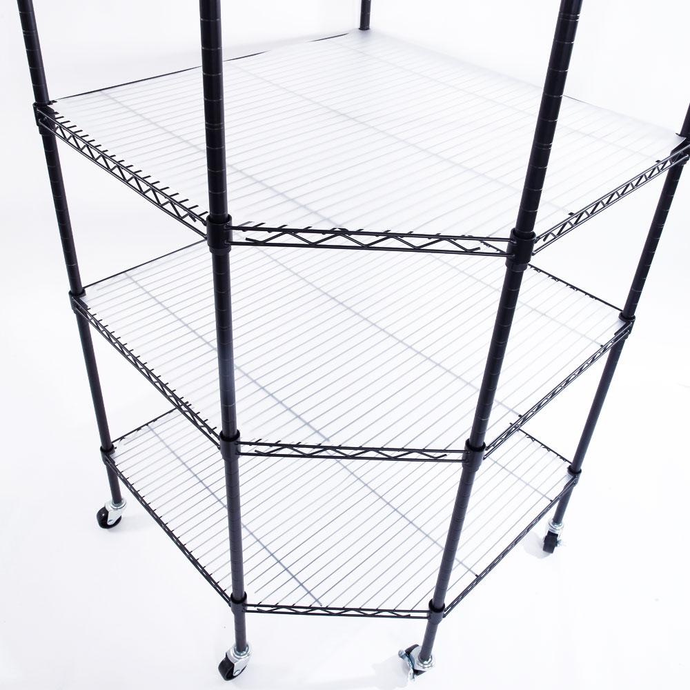 6-Tier Wire Shelving Adjustable Heavy Duty Rack Corner