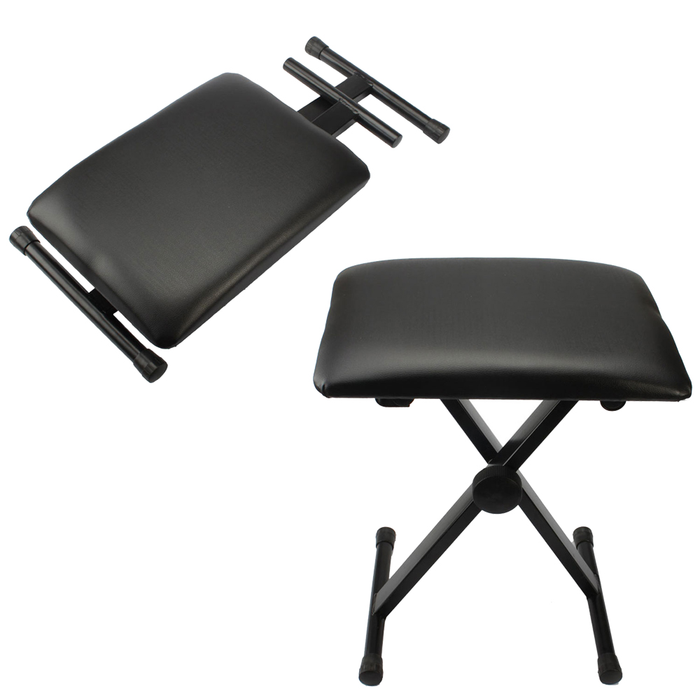 Keyboard Chair Details About Black Adjustable Piano Keyboard Bench Leather Padded Seat Folding Stool Chair
