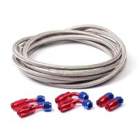 12FT Nylon And Stainless Steel Braided Fuel Oil Line Hose ...