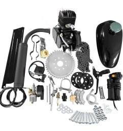 full set 80cc bike bicycle motorized 2 stroke petrol gas motor engine kit set [ 1000 x 1000 Pixel ]
