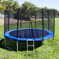 12 Ft Trampoline with Enclosure and Net W/Spring Outdoor ...