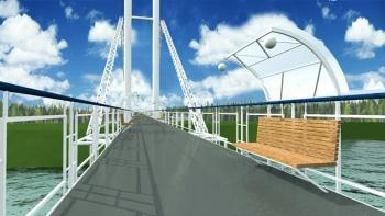 В Изюме с мая начнётся капитальный ремонт пешеходного моста
