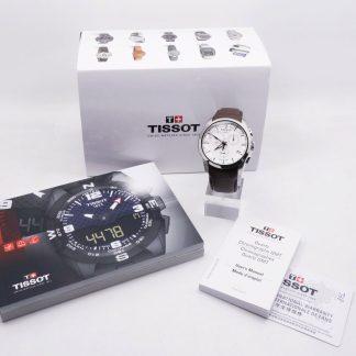 台中青蘋果3c二手天梭 Tissot Couturier建構師藍寶石雙時區計時錶