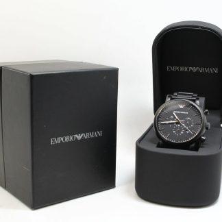 高雄青蘋果3c買賣收購二手Emporio Armani Classic 計時腕錶