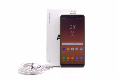 台中青蘋果3C買二手Samsung Galaxy A8+ A730F 金 64G 手機