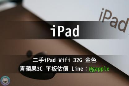 ipad Wfif 32G 金色