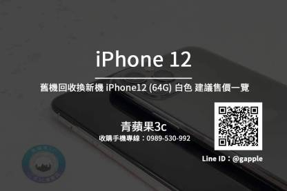 Apple iPhone 12 64G 白色