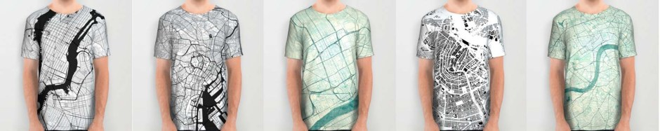 All Over Print T-Shirt Map