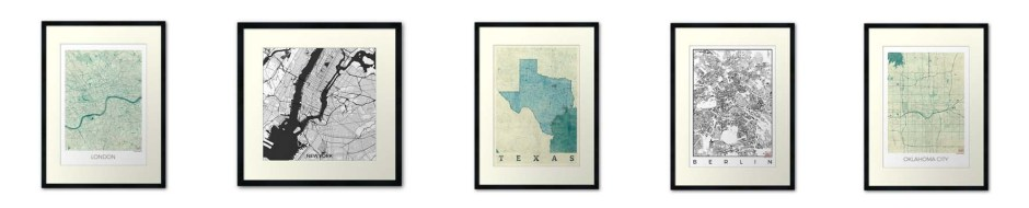 Products Framed Print Map
