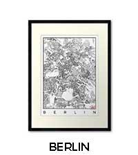 Berlin Map City Art Posters