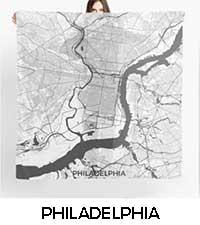 Philadelphia Map City Art Posters