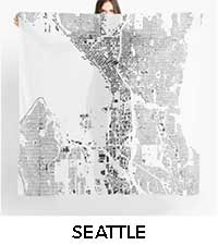 Seattle Map City Art Posters