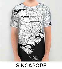 Singapore Map City Art Posters