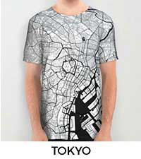 Tokyo Map City Art Posters