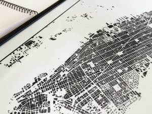 Urban plan quiz city art map