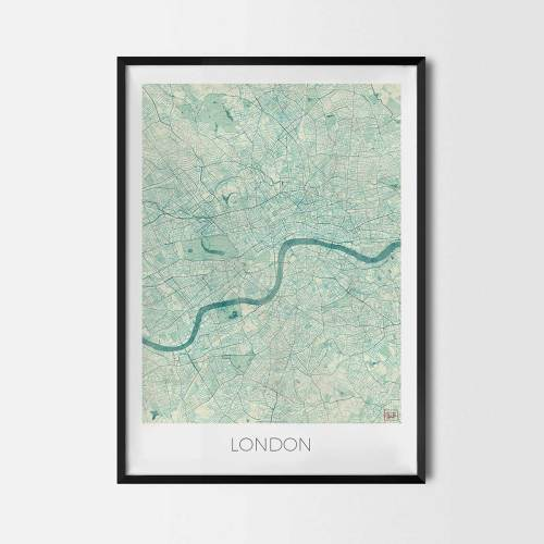 London City Map Posters Art Prints