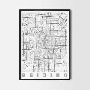 beijing art prints city map
