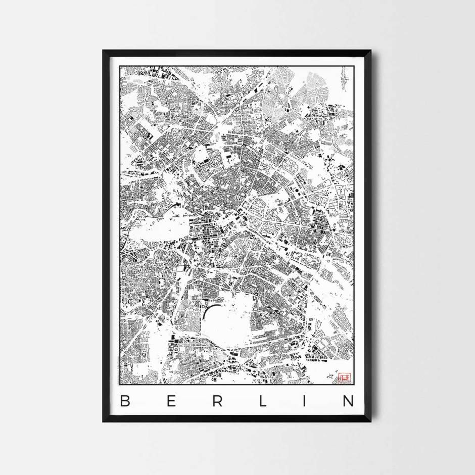 Berlin map poster schwarzplan urban plan