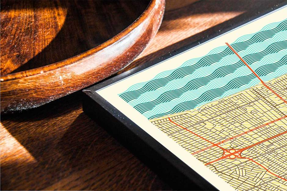 New Orleans Map Prints Retro Posters