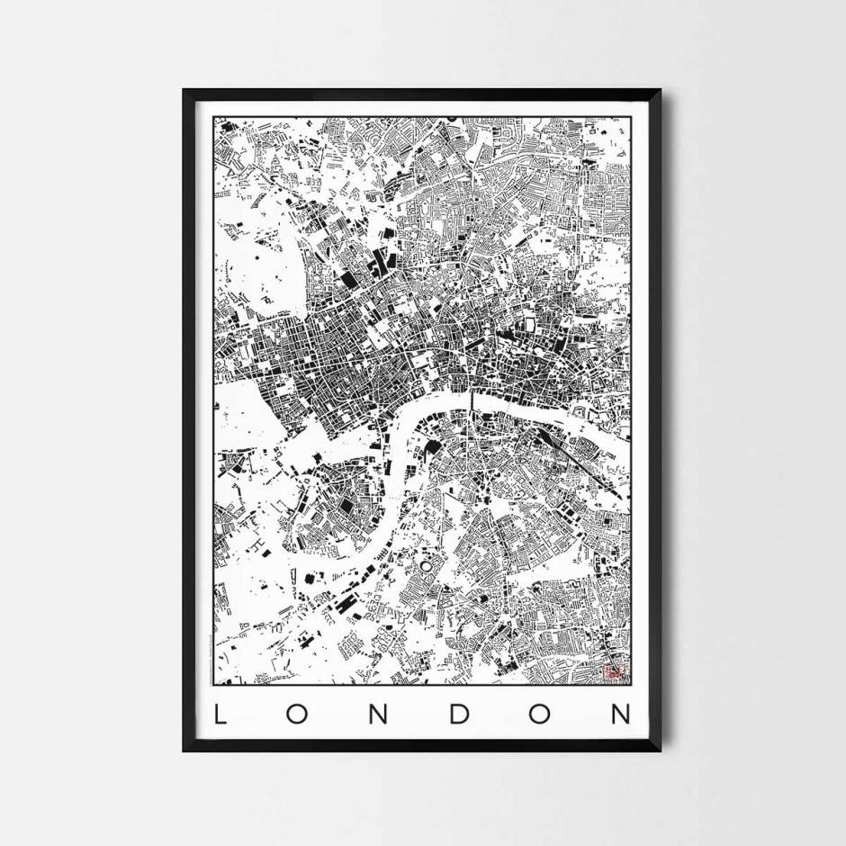 London map poster schwarzplan urban plan