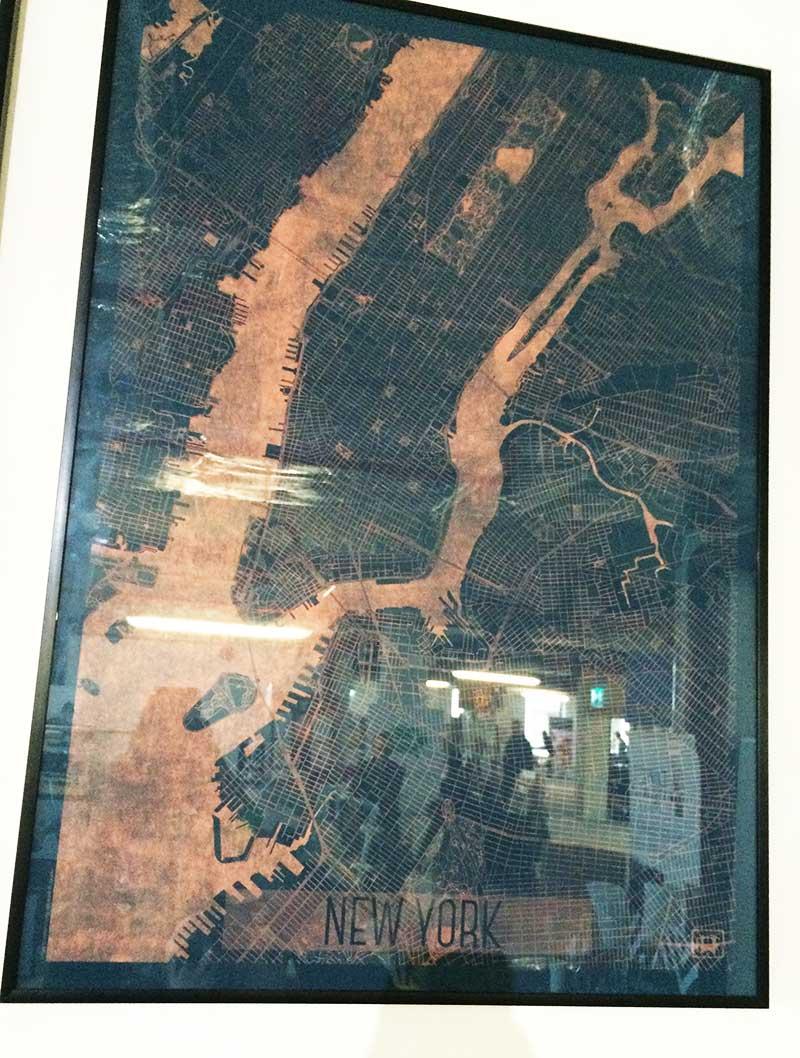 New York poster art print map design