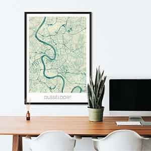 Dusseldorf gift map art gifts posters cool prints neighborhood gift ideas