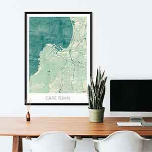 Cape Town gift map art gifts posters cool prints neighborhood gift ideas