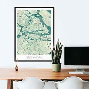 Stockholm gift map art gifts posters cool prints neighborhood gift ideas