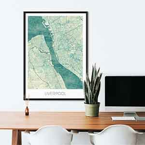 Liverpool gift map art gifts posters cool prints neighborhood gift ideas
