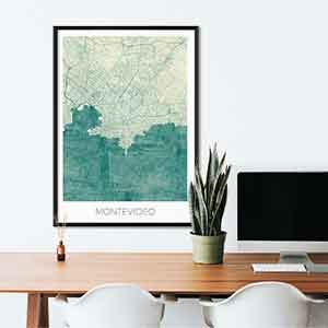 Montevideo gift map art gifts posters cool prints neighborhood gift ideas