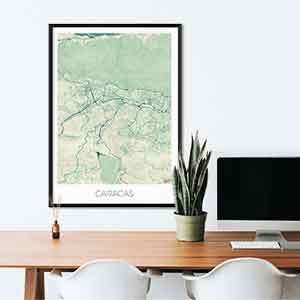 Caracas gift map art gifts posters cool prints neighborhood gift ideas