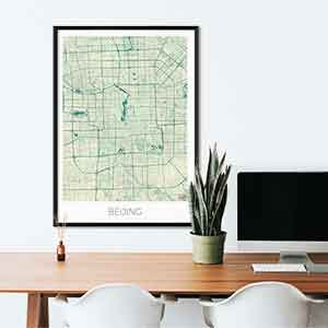 Beijing gift map art gifts posters cool prints neighborhood gift ideas