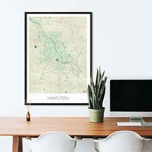 Hamilton gift map art gifts posters cool prints neighborhood gift ideas