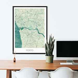 Porto gift map art gifts posters cool prints neighborhood gift ideas